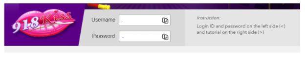 918kiss username and password indicator